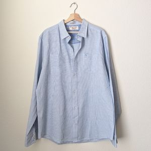ORIGINAL PENGUIN Blue Long Sleeve Button Up Shirt